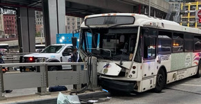 NJT Bus Crashes at Port Authority