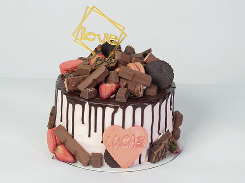 Strawberry& Chocolate Candy Specialty Cake