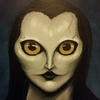 The Owl-Lady - Face