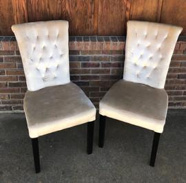 Cream Bride & Groom Chairs
