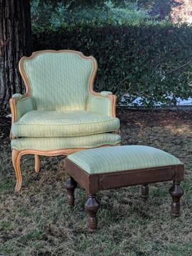 Mint Chair & Footrest