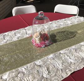 White Rose Table Runner