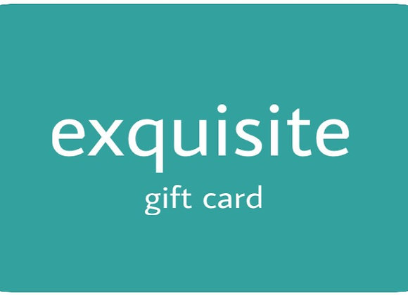 EXQUISITE GIFT CARD - PLASTIC