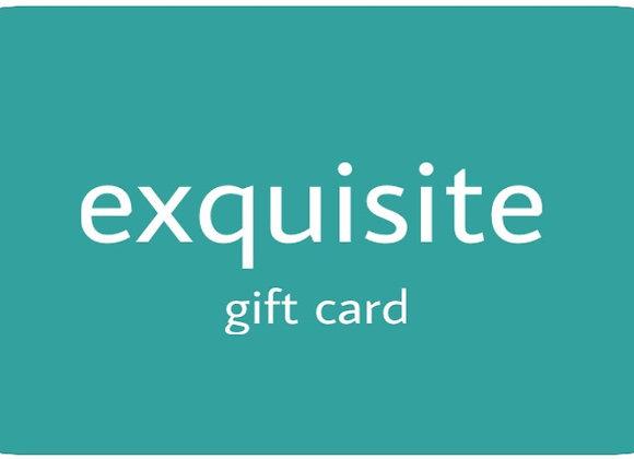 EXQUISITE GIFT CARD - PLASTIC