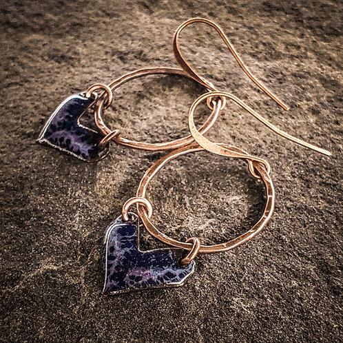 Storymy Purple Heart Hoops