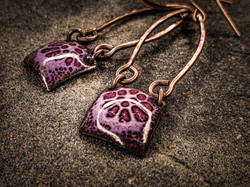 Purple Enamel Squares