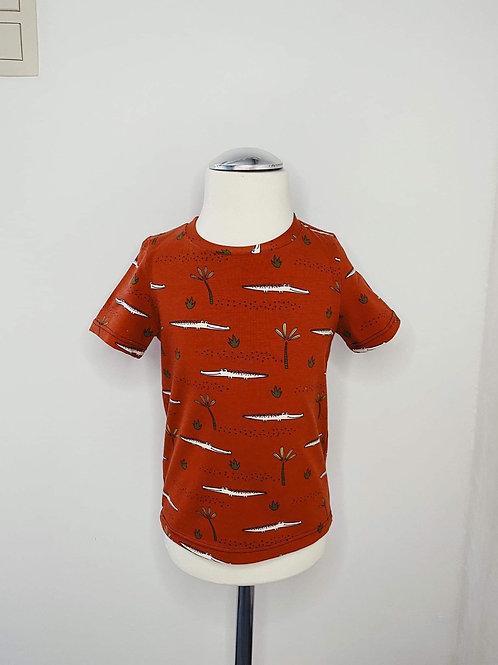 Crocodile t-shirt roest