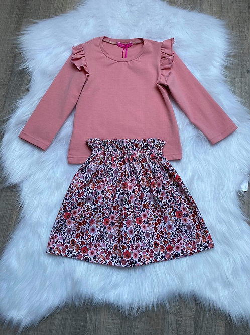 Ecru flower skirt