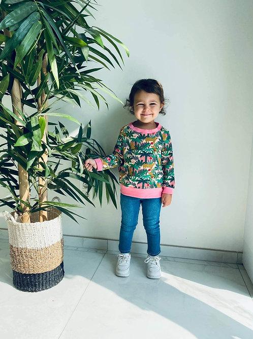 Pink tiger sweater