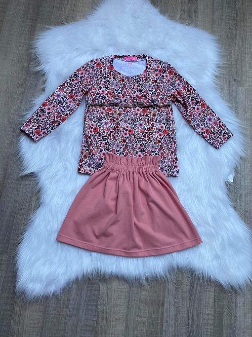 Pink basic skirt