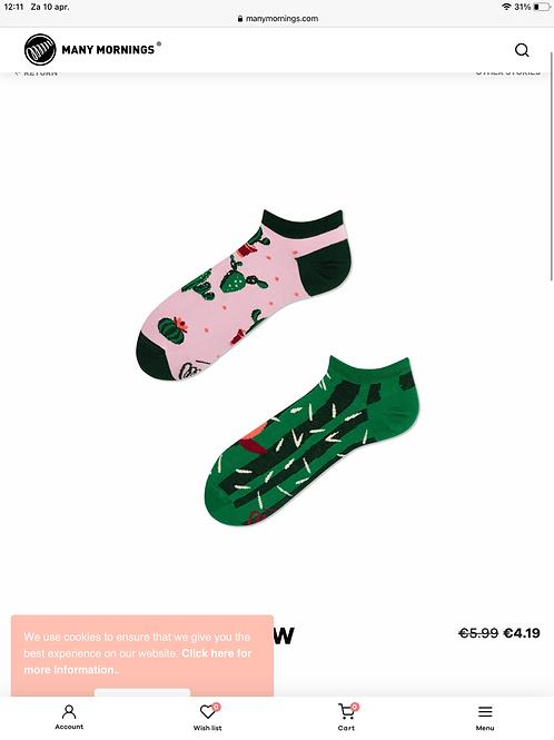 Summer cactus socks low