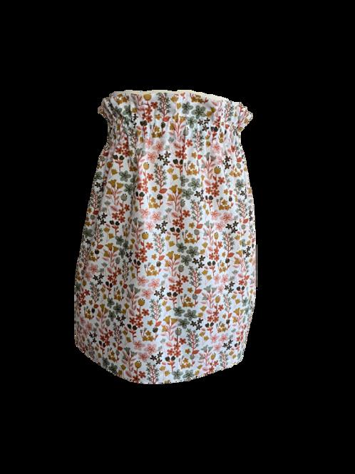 brown flower skirt