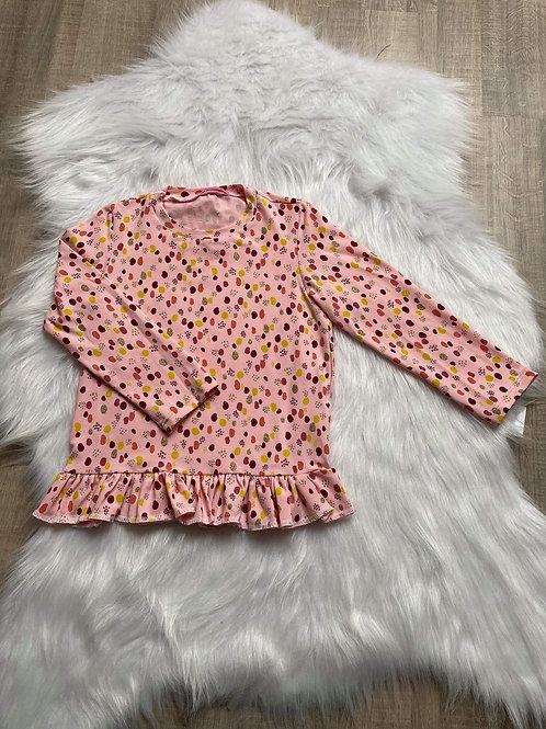 Pink glitter t-shirt long sleeve