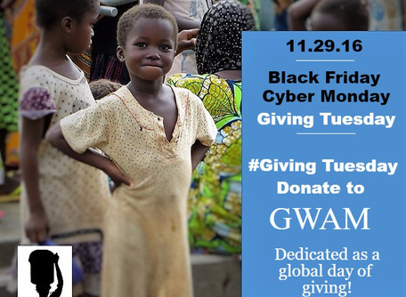Donate to GWAM on #Giving Tuesday: First Buckets