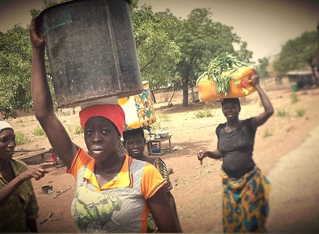 Carrying out the work in northern Ghana