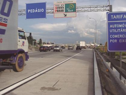 Pedágio aumenta em todas as rodovias estaduais