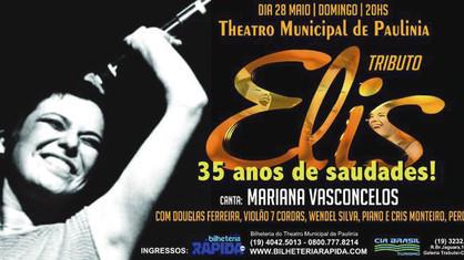 Mariana Vasconcelos apresenta Tributo a Elis Regina em Paulínia