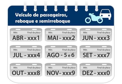 Veículos com placa final 4 devem ser licenciados no mês de julho
