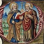 Simón y Judas Breviario-romano del siglo