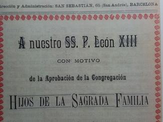 La aprobación canónica de los Hijos de la Sagrada Familia en la Rev. Sagrada Familia (22-VI-1901)