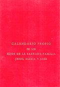 CALENDARIO PROPIO HIJOS DE LA SAGRADA FAMILIA