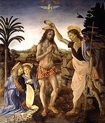 The baptism of Christ, Leonardo da Vinci