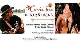 Carrie Tree & Kusñi Bear Acoustic Summer House Concert - Glastonbury