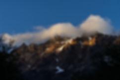Sonnenstrahlen am Cerro Aniversario