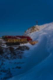 Glungezer Hütte zur Blauen Stunde