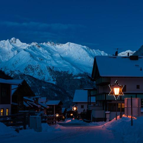 Verschlafenes Bergdorf Ötztaler Alpen Bl