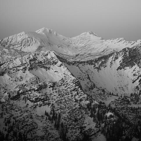 Winterliches Estergebirge