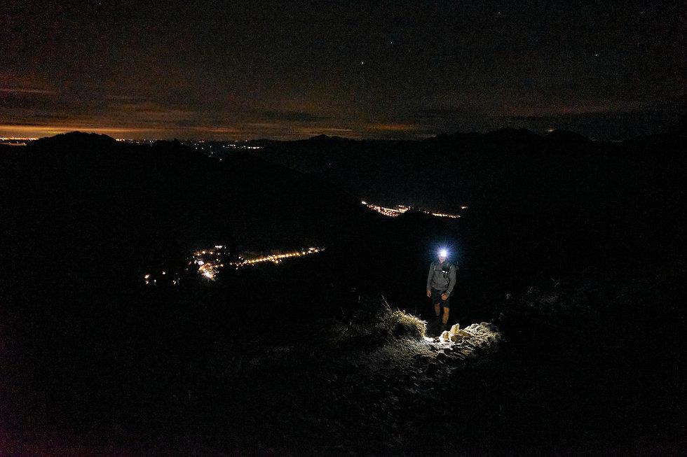 Bergwandern bei Nacht