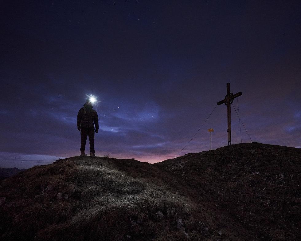 Notkarspitze bei Nacht