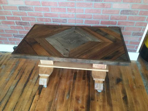 Repurposed Barn Board Coffee Table