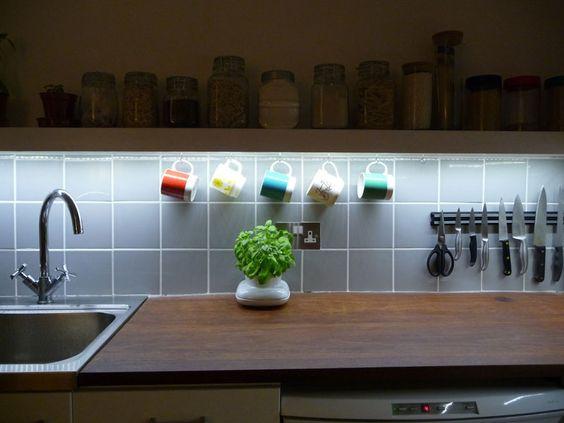 iluminação em cozinha