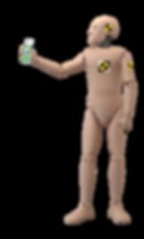 Crash Test Dummy Open Hand Purell (horiz