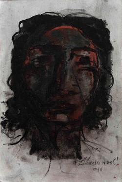 SN (Rostro de mujer) - Tinta 23x15 - 201