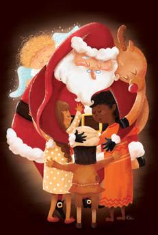 Le câlin du père Noël
