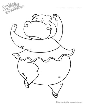 Hippo à colorier