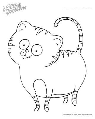 Chat à colorier