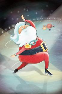 Père Noël aux jeux Olympiques