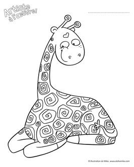 Girafe à colorier