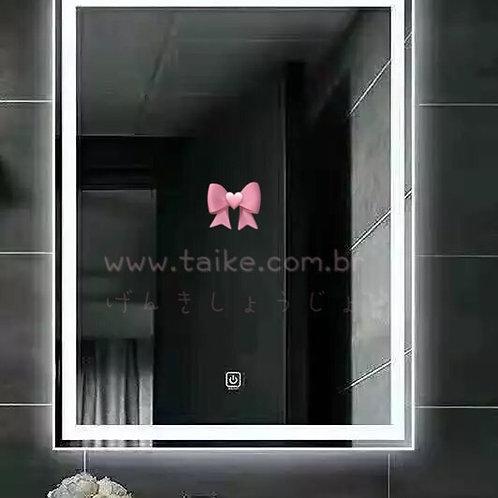 espelho com iluminação led touch com sensor  movimento 60cm*80cm sobrepor