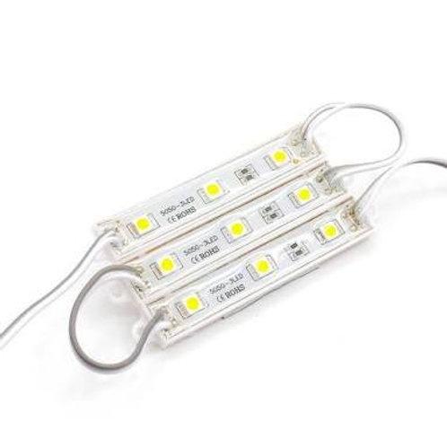 Módulo barra de led 5050 3 leds cor Branco/Amarelo