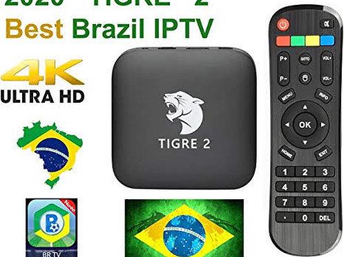 Tigre 2 TV Box Receptor FTA - 4K Ultra HD com WI-Fi - Bluetooth