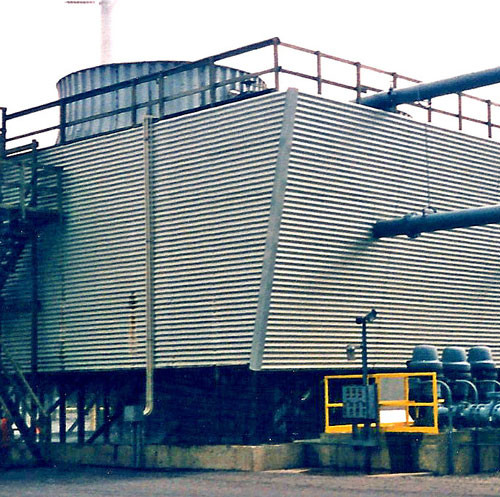Crossflow to Counterflow Cooling Tower Conversion