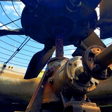 BEFORE - Cooling Tower Gear Reducer Replacement
