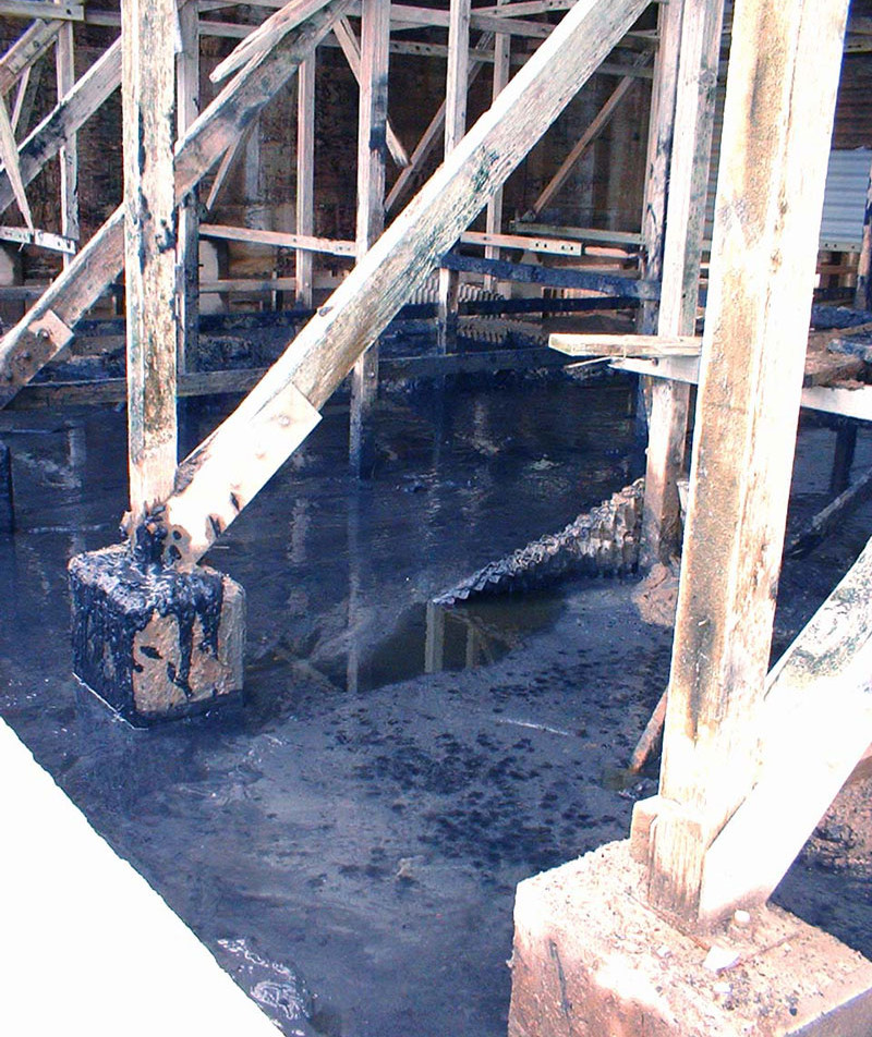 BEFORE - Cooling Tower Lumber to FRP Structural Conversion