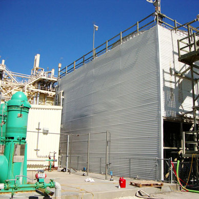 AFTER - New Cooling Tower Siding