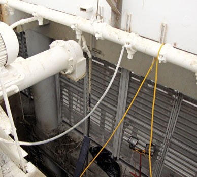DURING - Cooling Tower Hot Water Distribution System Repairs